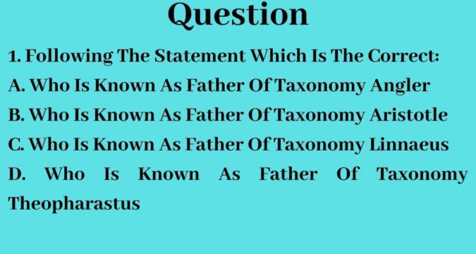 Plant Physiology Multiple Choice Question